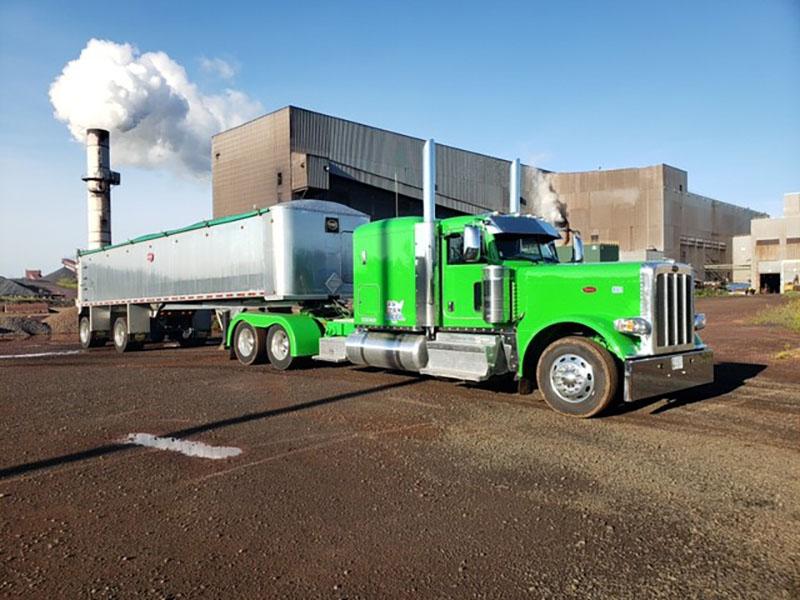 dry bulk end dump trailer hazmat loading